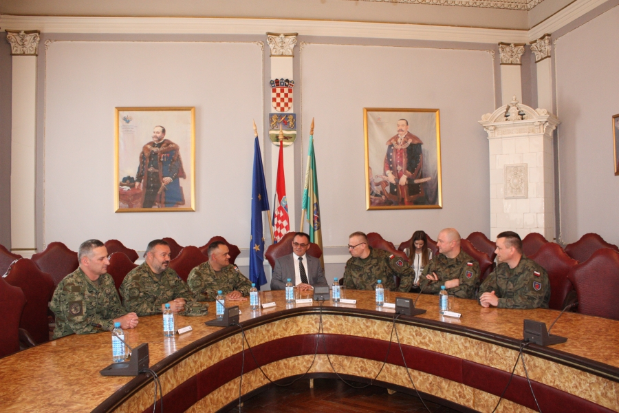 Predstavnici poljskog vojnog izaslanstva u posjetu Požeško-slavonskoj županiji