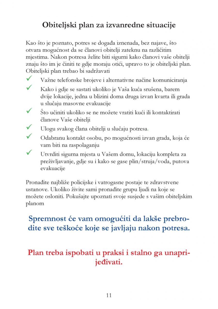Upute za postupanje u slučaju potresa