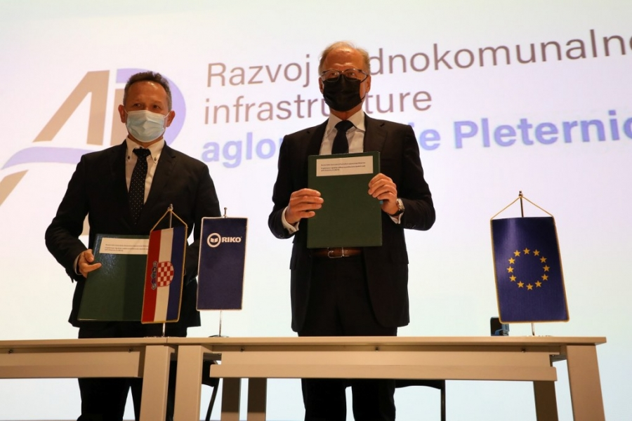 """Potpisan ugovor s izvođačem radova: """"Izgradnja pročistača u Pleternici je ključan faktor funkcionalnosti aglomeracije"""""""