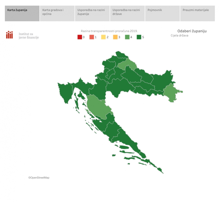 Požeško - slavonskoj županiji ponovno petica za transparentnost