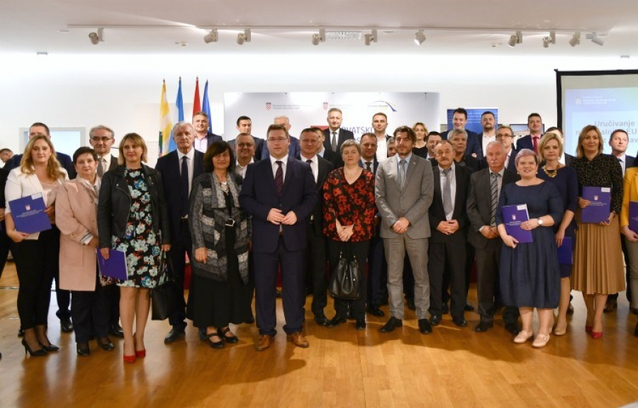 Potpisivanje Ugovora s Ministarstvom regionalnog razvoja o sufinanciranju projekata u Požeško-slavonskoj županiji