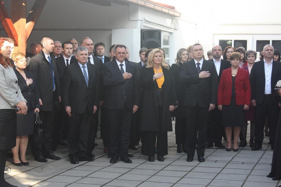 Predsjednica Kolinda Grabar-Kitarović stigla u Požeško-slavonsku županiju