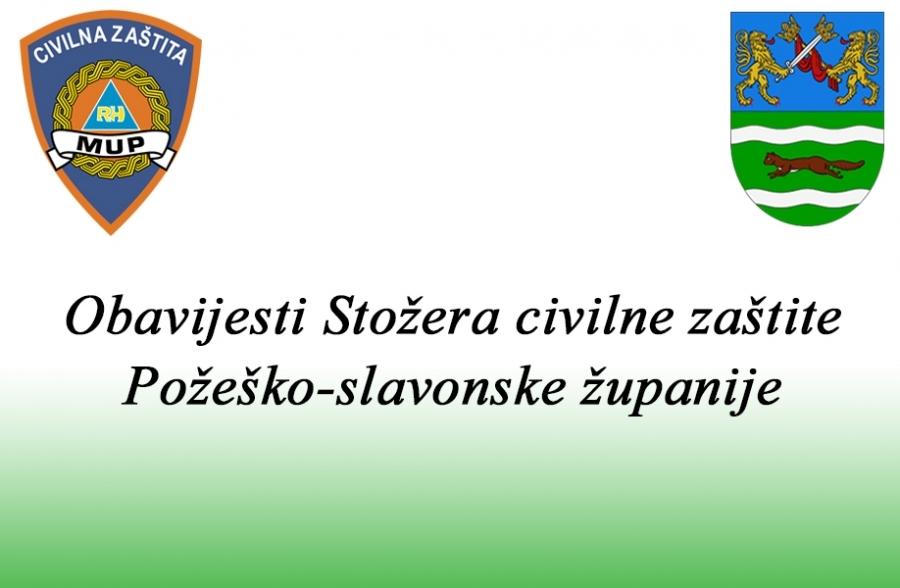 Trenutno stanje u Požeško - slavonskoj županiji dana 15. kolovoza 2020. godine