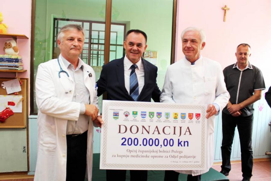 Odjelu pedijatrije donirana sredstva za kupnju medicinske opreme