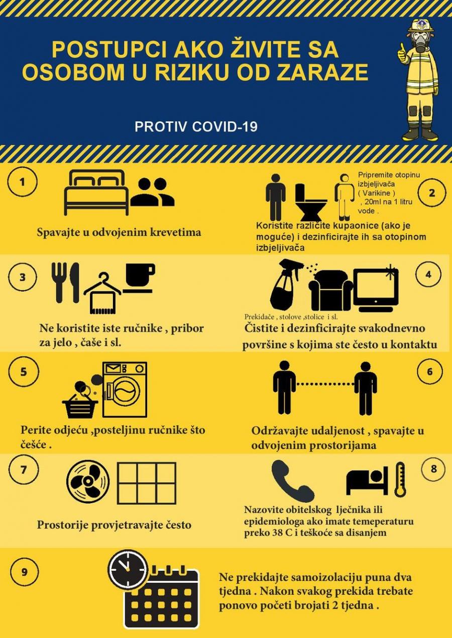 Upute Hrvatskog zavoda za javno zdravstvo - COVID-19