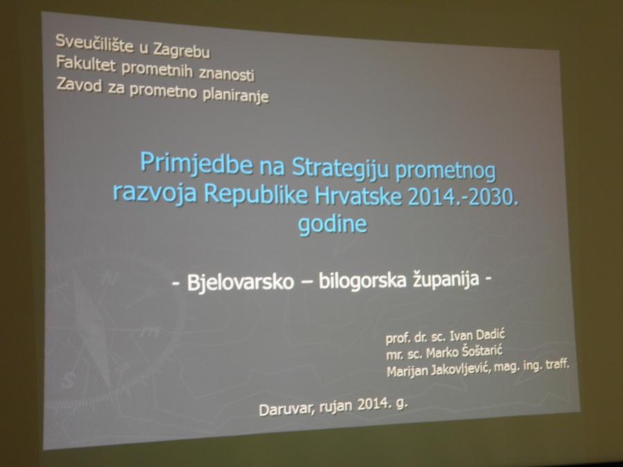 Održan okrugli stol na temu novog nacrta strategije prometnog razvoja Republike Hrvatske 2014. – 2030.