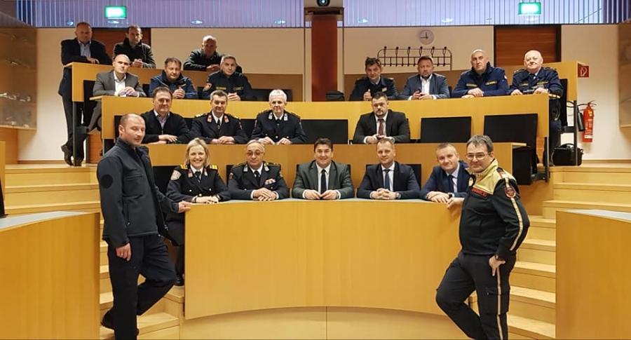 Posjeta županijskih i vatrogasnih čelnika slavonskih županija Vatrogasnoj školi u Telfsu
