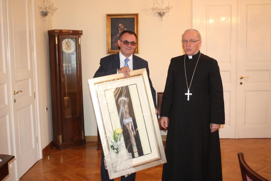 Požeško-slavonski župan na primanju kod biskupa Škvorčevića