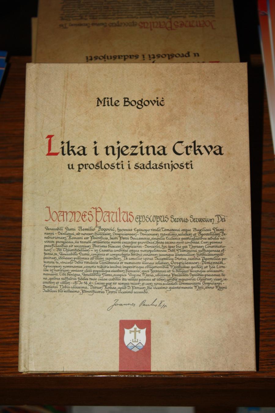 """Biskup msgr. dr. Mile Bogović predstavio knjigu  """"Lika i njezina crkva u prošlosti i sadašnjosti"""""""