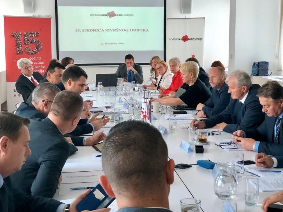 Izvršni odbor Hrvatske zajednice županija - Jačanje demografskih politika na regionalnoj razini