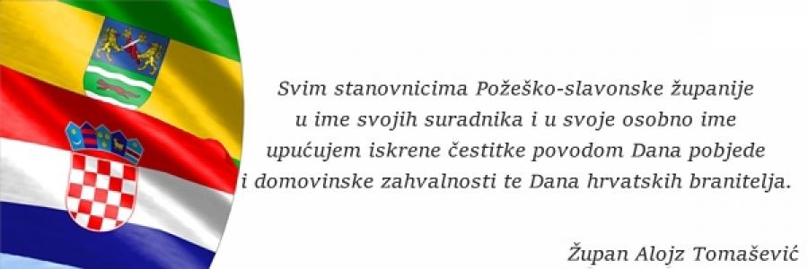 Čestitka za Dan pobjede i domovinske zahvalnosti te Dan hrvatskih branitelja