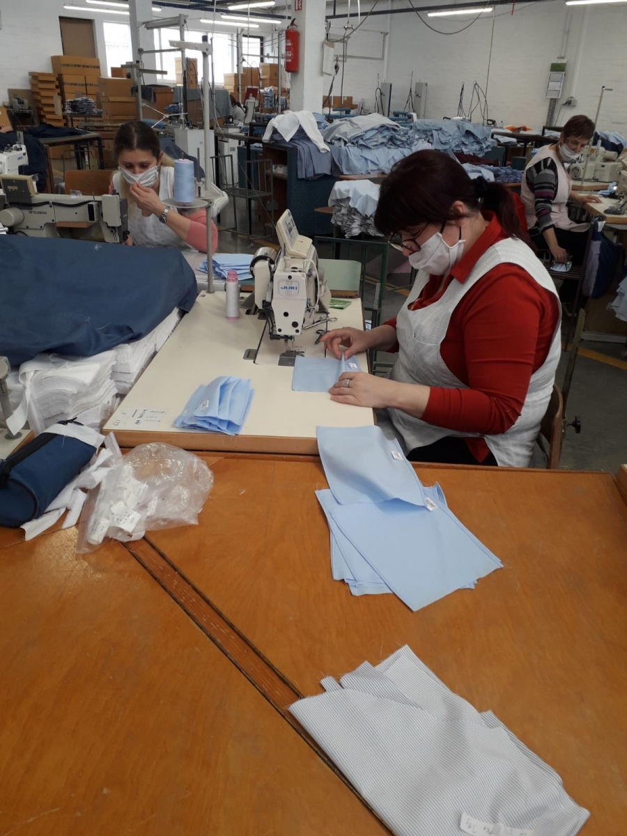 Župan u obilasku Orljave d.o.o. i proizvodnje zaštitnih maski