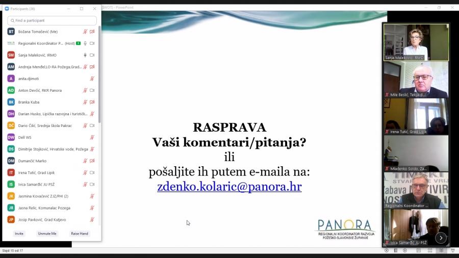 Održana prva radionica Radnih timova za izradu Plana razvoja PSŽ