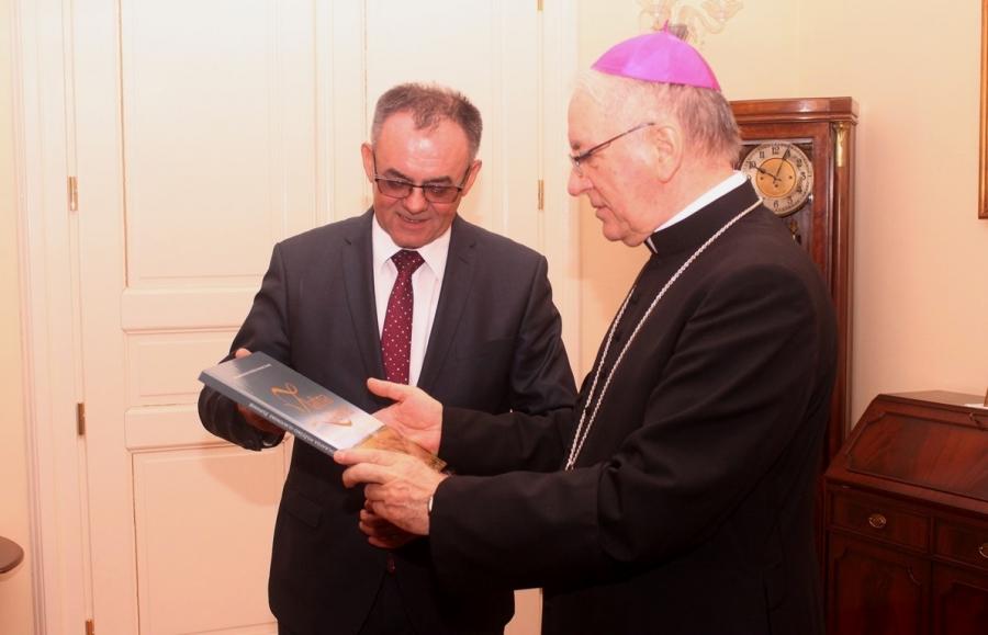 Župan na primanju kod biskupa Škvorčevića