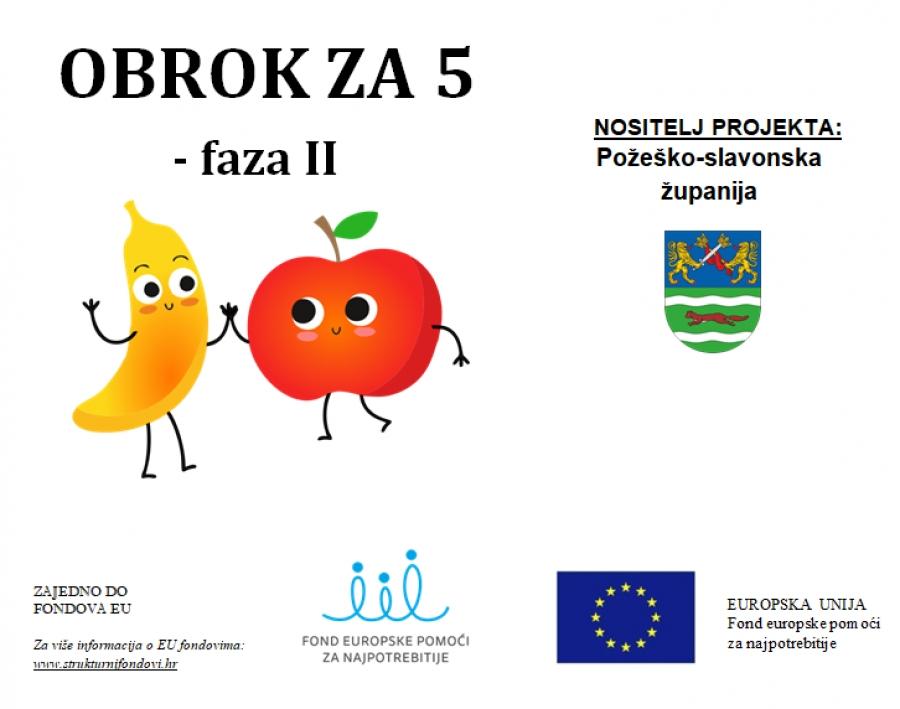 """Kroz projekt """"Obrok za 5"""" osigurana školska prehrana za svu djecu"""