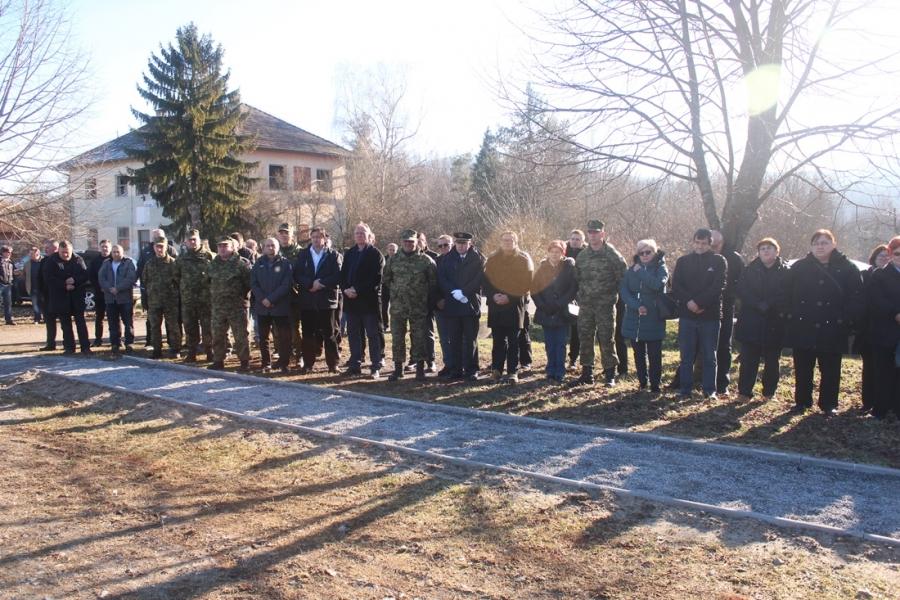 Otkrivanje spomenika poginulim pripadnicima 1. bojne 123. brigade Hrvatske vojske u Španovici